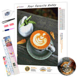 Load image into Gallery viewer, Patterned Coffee DIY Diamond Painting Kit