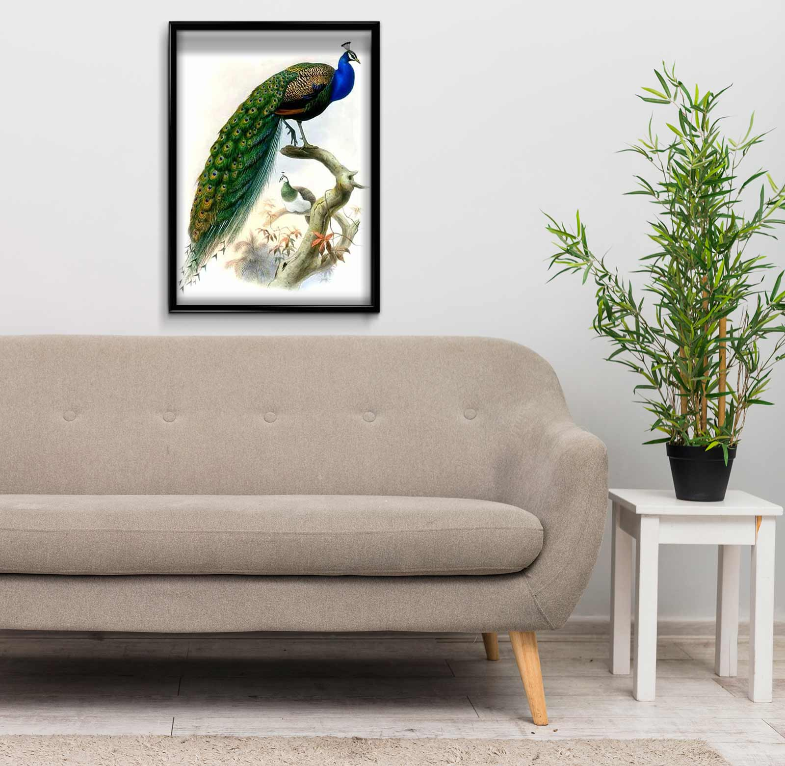 Peacock on a Branch DIY Diamond Painting Kit