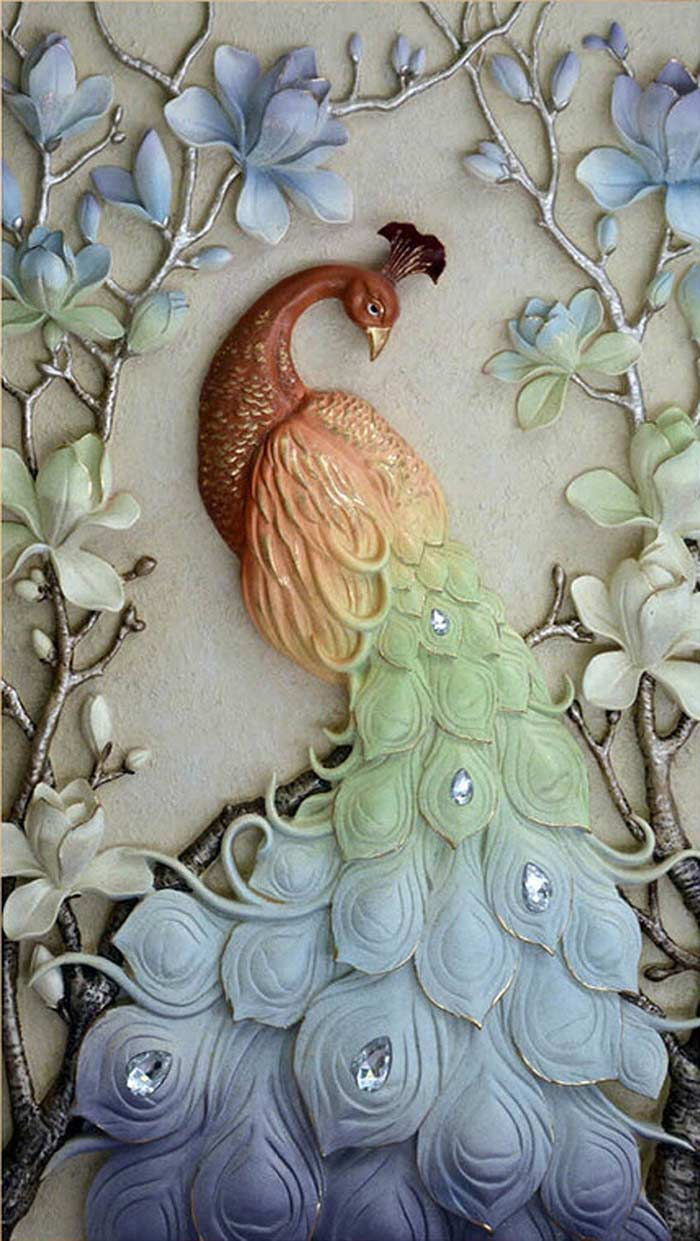 Peacock on the Branches DIY Diamond Painting Kit