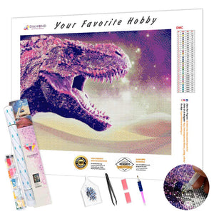 Pink Dragon DIY Diamond Painting Kit