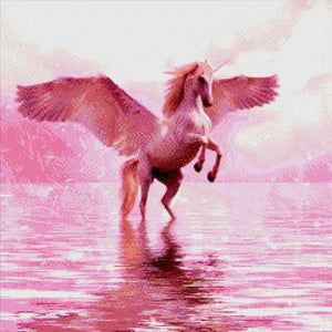 Pink Unicorn DIY Diamond Painting Kit