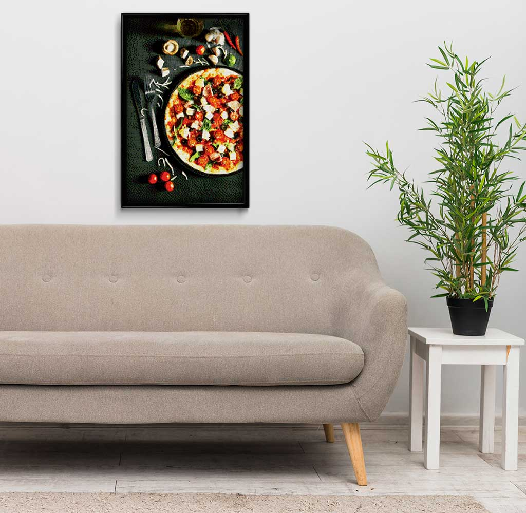 Pizza with Vegetables DIY Diamond Painting Kit