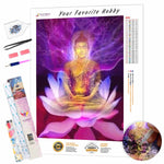 Load image into Gallery viewer, Psychedelic Buddha DIY Diamond Painting Kit