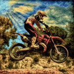 Load image into Gallery viewer, Rally Motorcyclist DIY Diamond Painting Kit