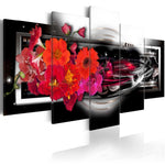 Load image into Gallery viewer, Red Flowers in Black Interior 5pcs/set DIY Diamond Painting Kit