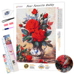 Load image into Gallery viewer, Red Flowers DIY Diamond Painting Kit