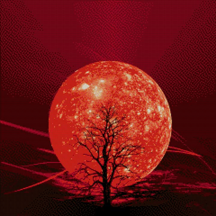 Red Moon DIY Diamond Painting Kit