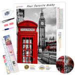 Load image into Gallery viewer, Red Telephone Box DIY Diamond Painting Kit