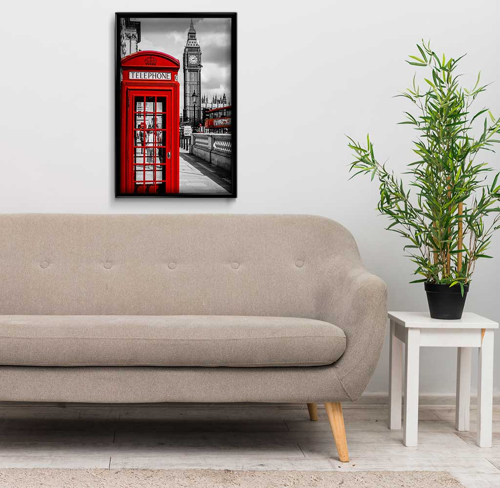 Red Telephone Box DIY Diamond Painting Kit
