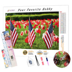 Load image into Gallery viewer, Remembrance Day Flags DIY Diamond Painting Kit