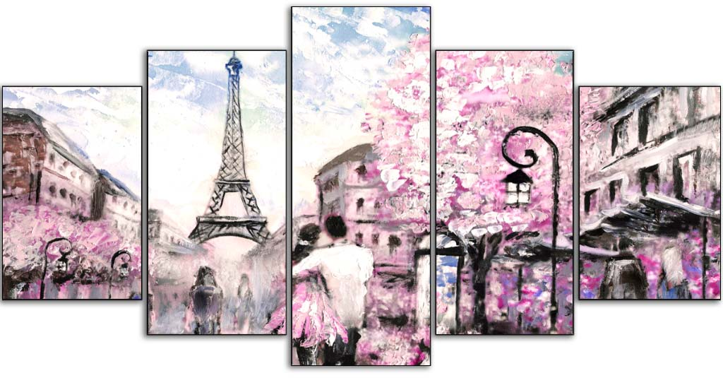 Romantic Picturesque Paris 5pcs/set DIY Diamond Painting Kit