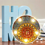 Load image into Gallery viewer, Round LED Lamp Sun and Night DIY Diamond Painting