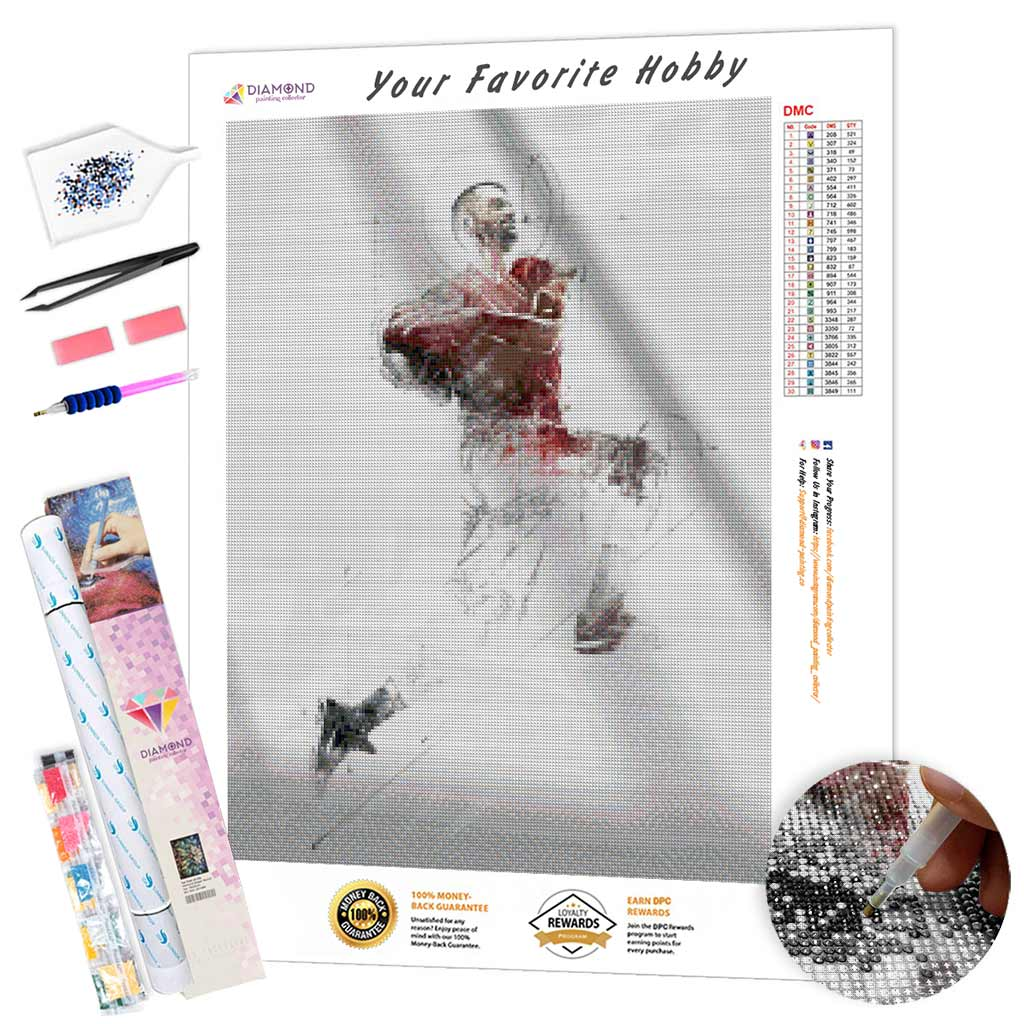 Rugby Player Sketch DIY Diamond Painting Kit