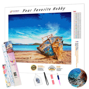 Rusty Boat DIY Diamond Painting Kit