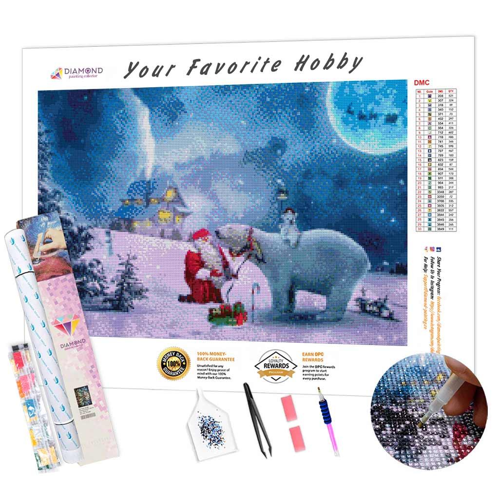 Santa Bear DIY Diamond Painting Kit