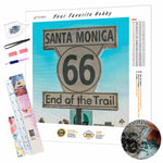 Load image into Gallery viewer, Santa Monica 66 Sign DIY Diamond Painting Kit