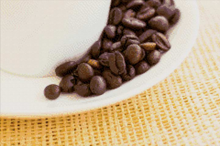 Saucer Coffee Beans DIY Diamond Painting Kit
