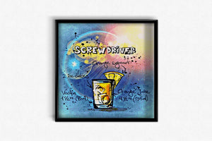 Screwdriver Cocktail DIY Diamond Painting Kit