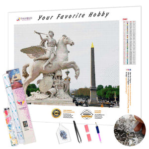 Sculpture of Pegasus DIY Diamond Painting Kit