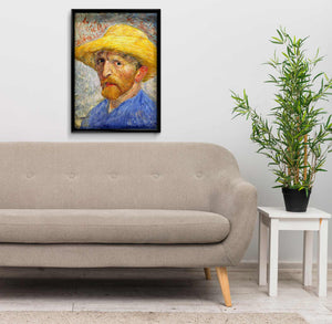 Self Portrait with Straw Hat by Vincent van Gogh DIY Diamond Painting Kit