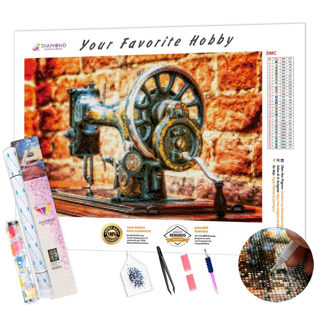 Sewing Machine DIY Diamond Painting Kit