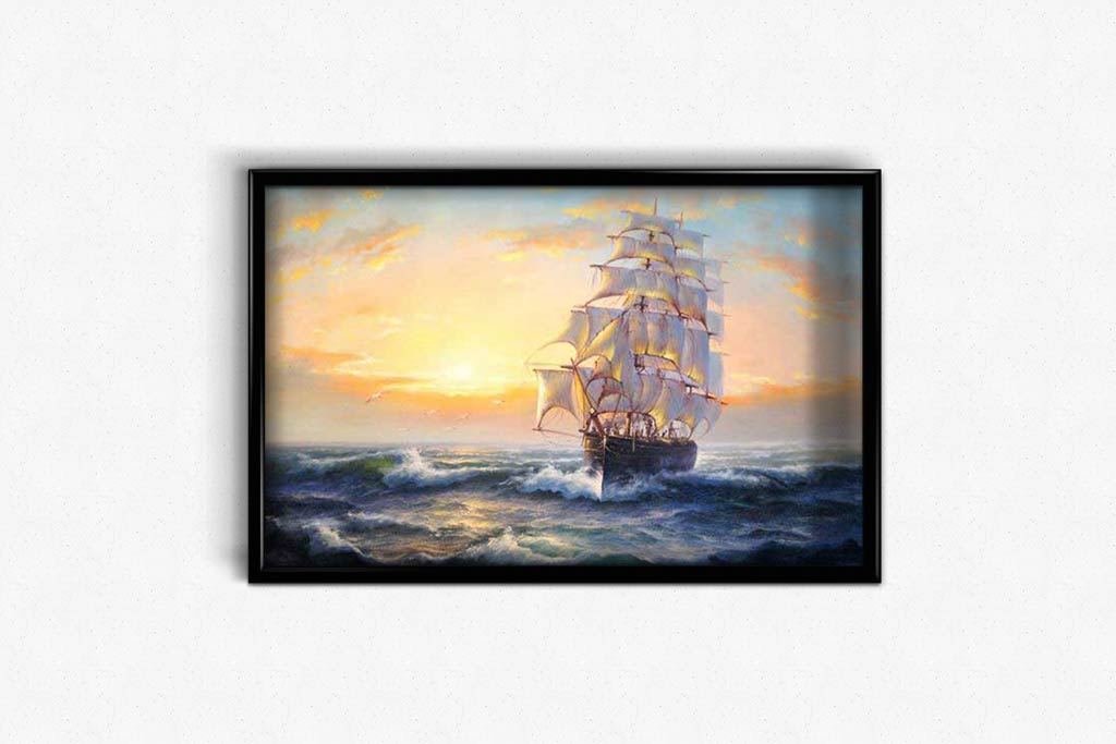 Ship Arrived at Harbor DIY Diamond Painting Kit
