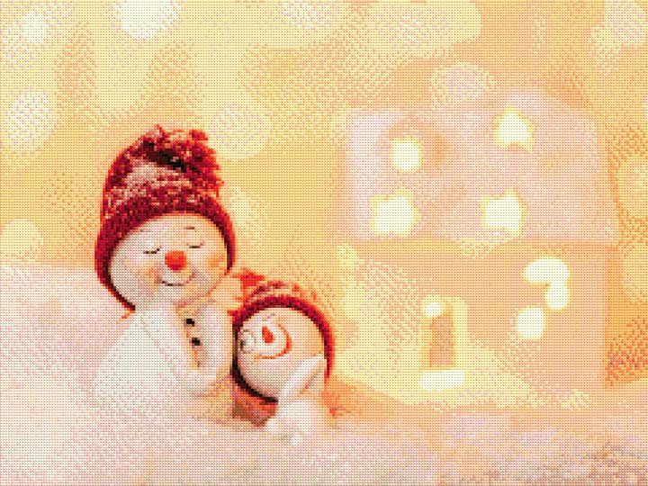 Snowman Family DIY Diamond Painting Kit