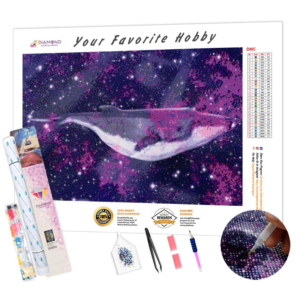 Star Whale DIY Diamond Painting Kit