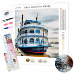 Load image into Gallery viewer, Steamboat at the Pier DIY Diamond Painting Kit