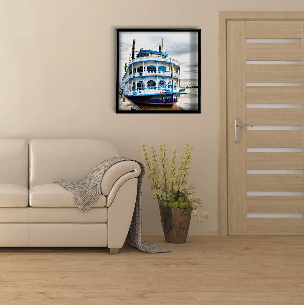 Steamboat at the Pier DIY Diamond Painting Kit