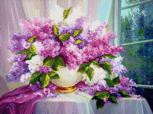 Still Life Lilac DIY Diamond Painting Kit