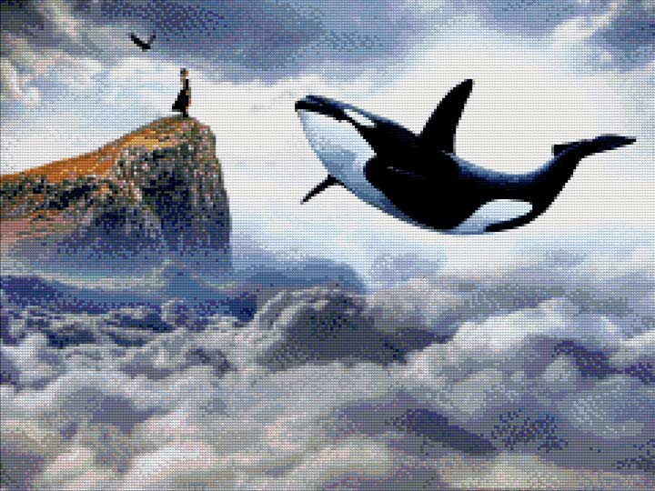 Summon Killer Whales DIY Diamond Painting Kit