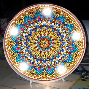Sun Mandala LED Lamp with Light DIY Diamond Painting
