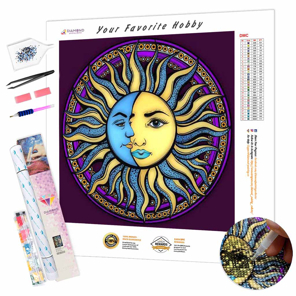 Sun and Moon DIY Diamond Painting Kit