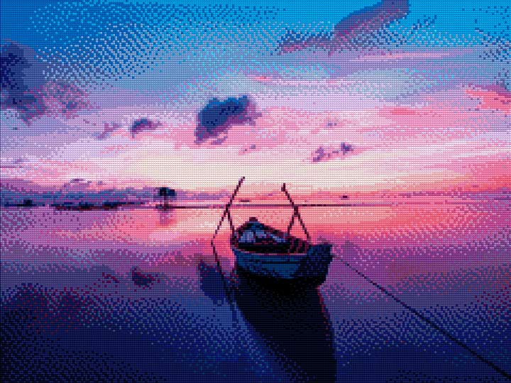 Sunrise on the Sea DIY Diamond Painting Kit