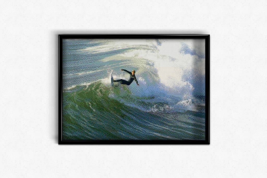 Surfer on the Wave DIY Diamond Painting Kit