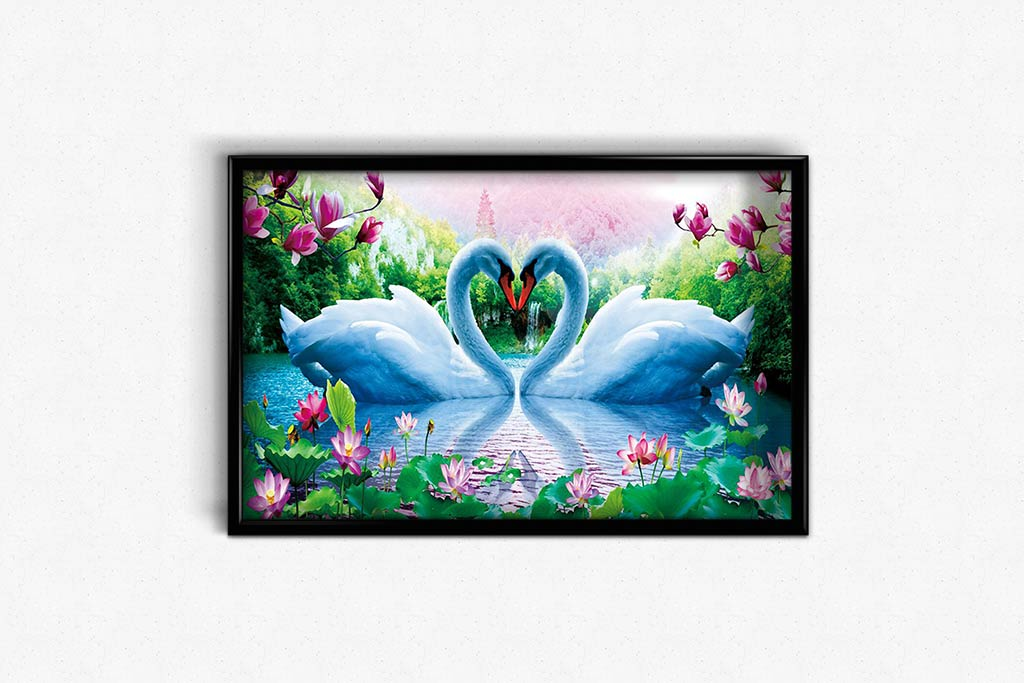 Swans in the Green Valley DIY Diamond Painting Kit