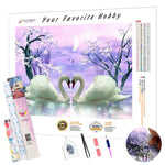 Load image into Gallery viewer, Swans in the Moon Garden DIY Diamond Painting Kit