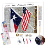 Load image into Gallery viewer, Texas Flag DIY Diamond Painting Kit