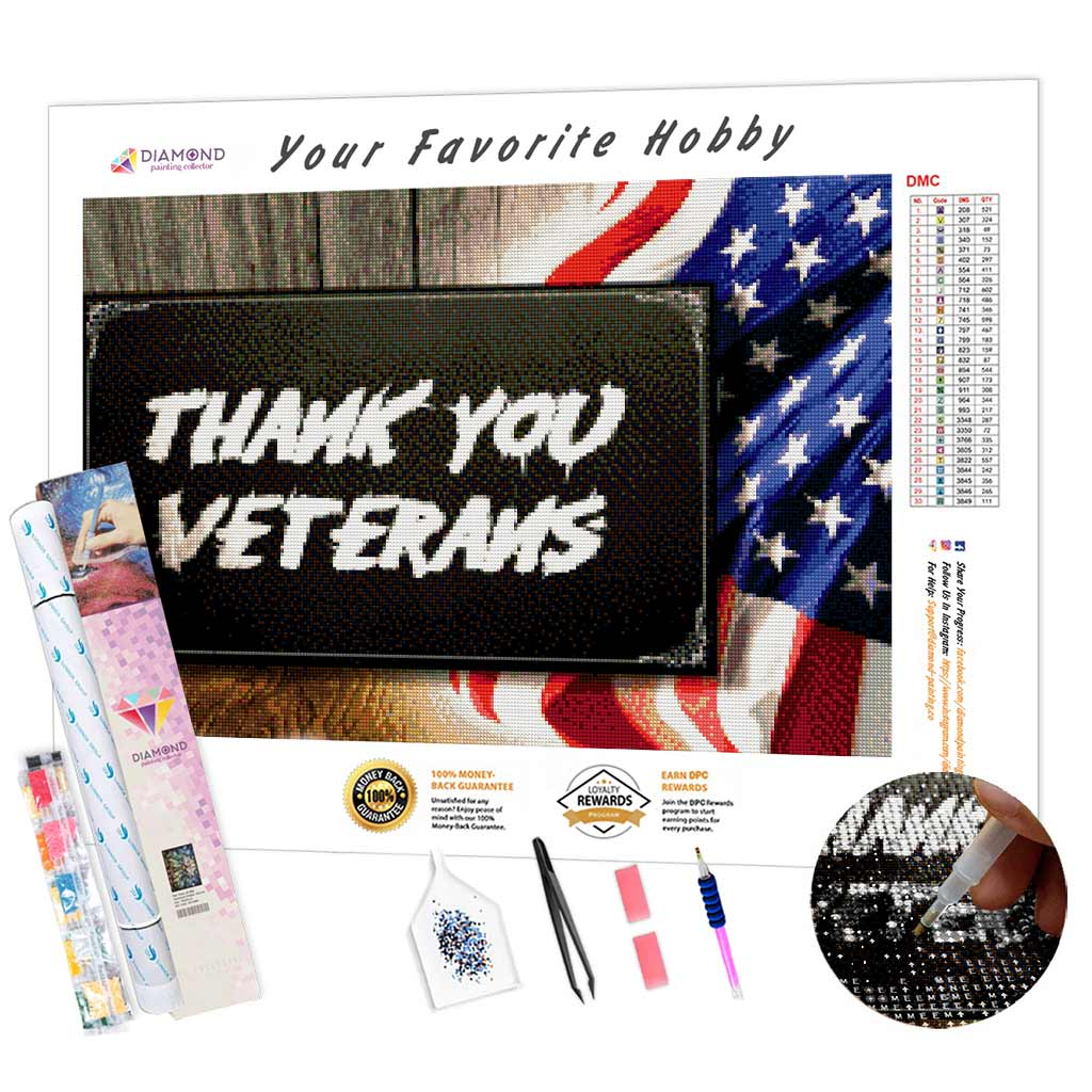 Thank You Veterans DIY Diamond Painting Kit