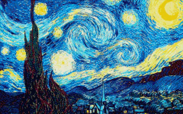 The Starry Night Vincent Van Gogh DIY Diamond Painting Kit