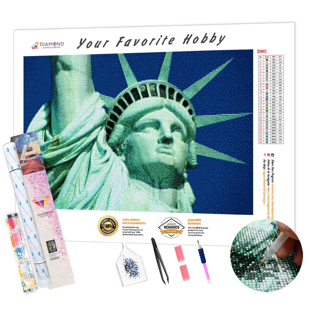 The Statue of Liberty DIY Diamond Painting Kit