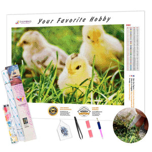 Three Chicks DIY Diamond Painting Kit