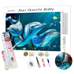 Load image into Gallery viewer, Three Dolphins DIY Diamond Painting Kit