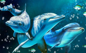Three Dolphins DIY Diamond Painting Kit