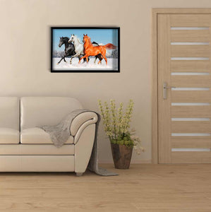 Three Horses on the Snow DIY Diamond Painting Kit