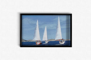 Three Sailing Yachts DIY Diamond Painting Kit