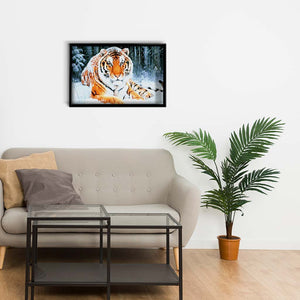Tiger in the Snow DIY Diamond Painting Kit