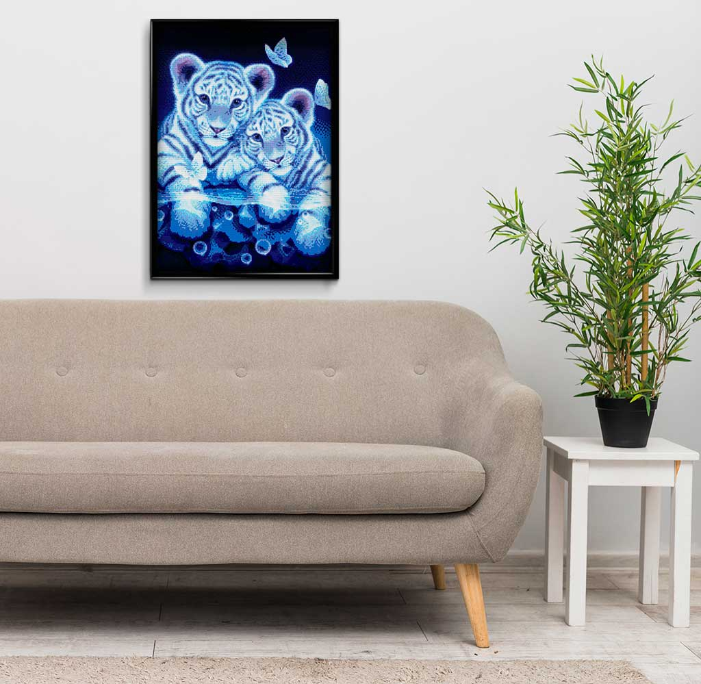 Tigers & Butterfly DIY Diamond Painting Kit