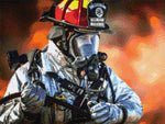 Load image into Gallery viewer, Tired Firefighter DIY Diamond Painting Kit